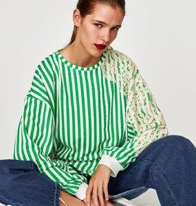 Zara Lace sweatshirt
